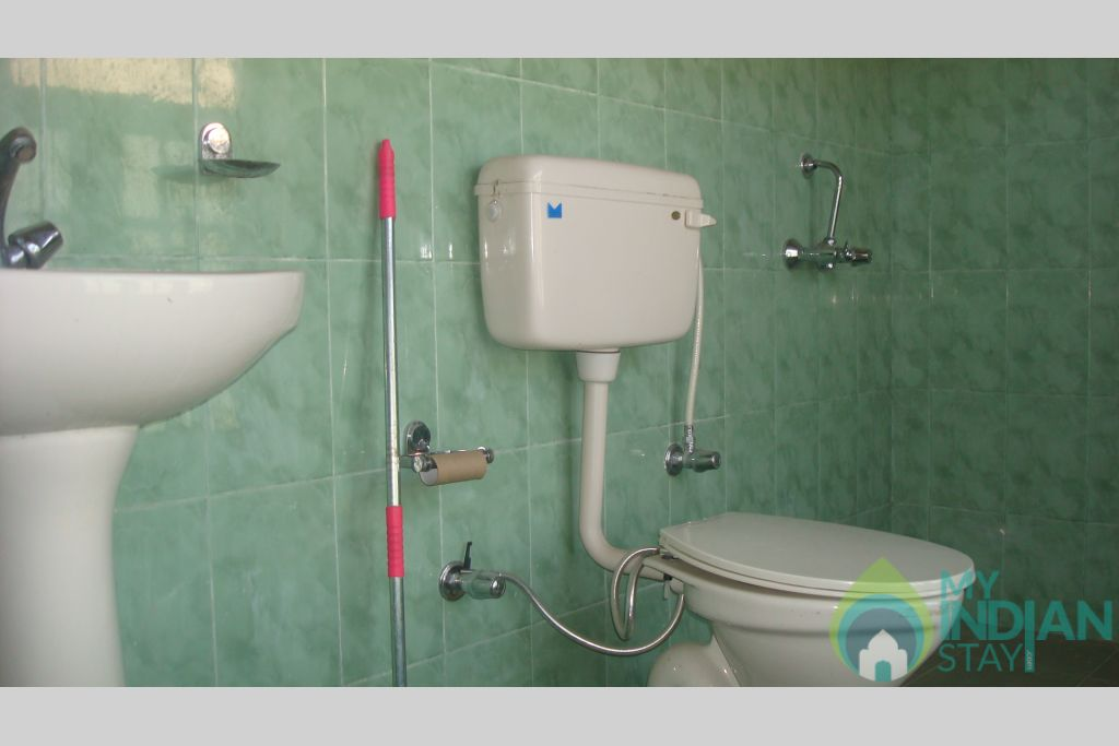Bath/Toilet in a Guest House in Leh, Jammu and Kashmir