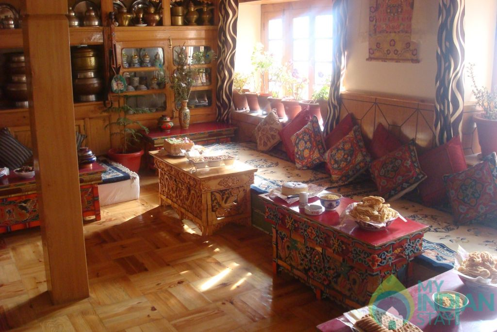 Dinning Area in a Guest House in Leh, Jammu and Kashmir