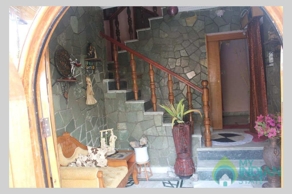 Staircase in a Guest House in Srinagar, Jammu and Kashmir