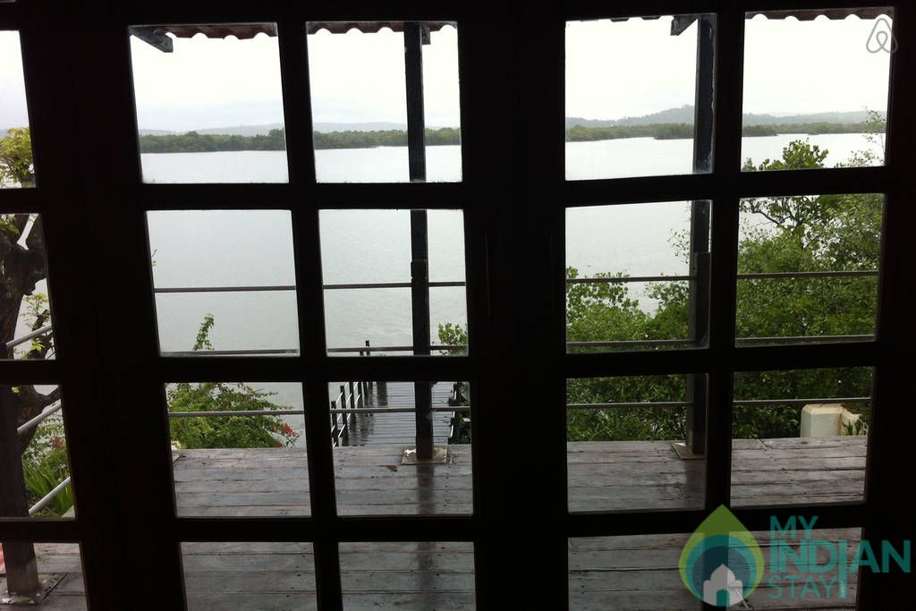 View from inside in a Cottage/Huts in Velha Goa, Goa