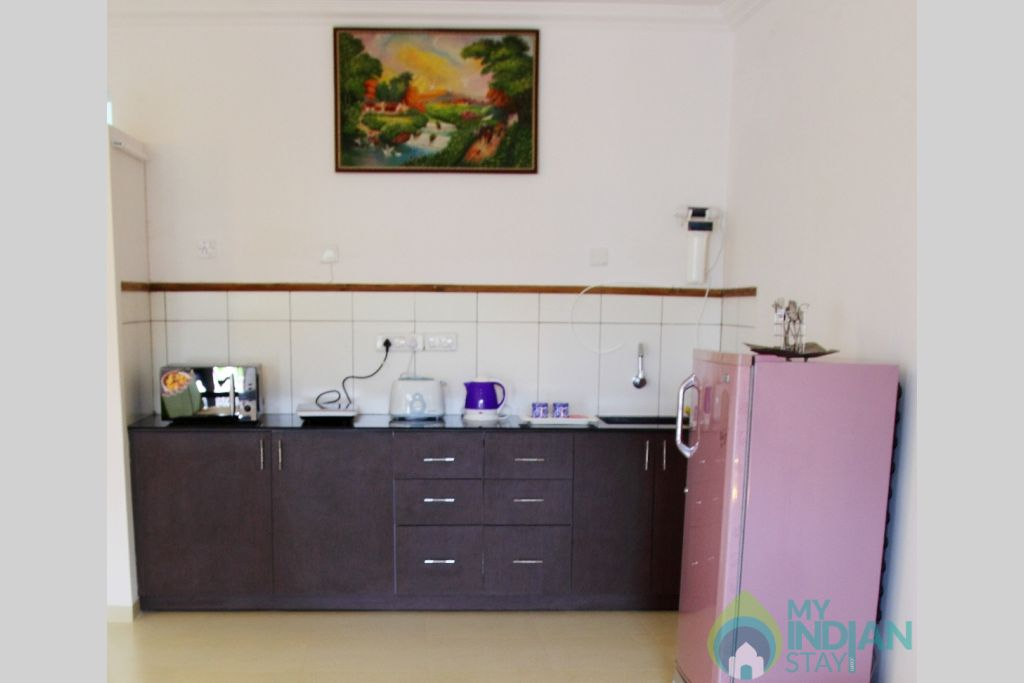 Kitchen in a Self Catered Apartment in Arpora, Goa