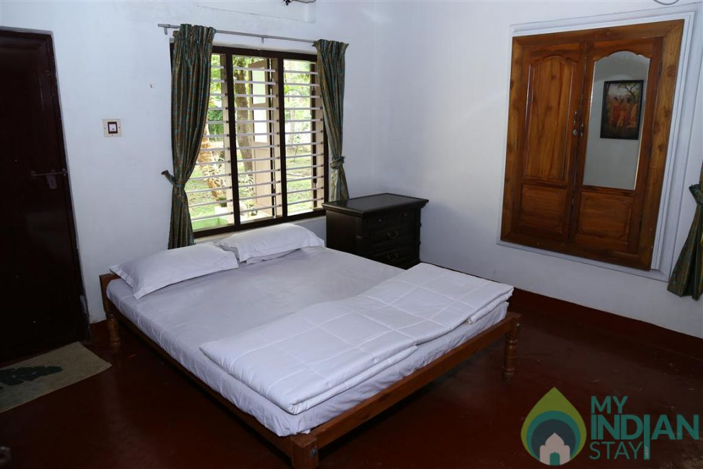 View of Bedroom in a HomeStay in Kumarakom, Kerala