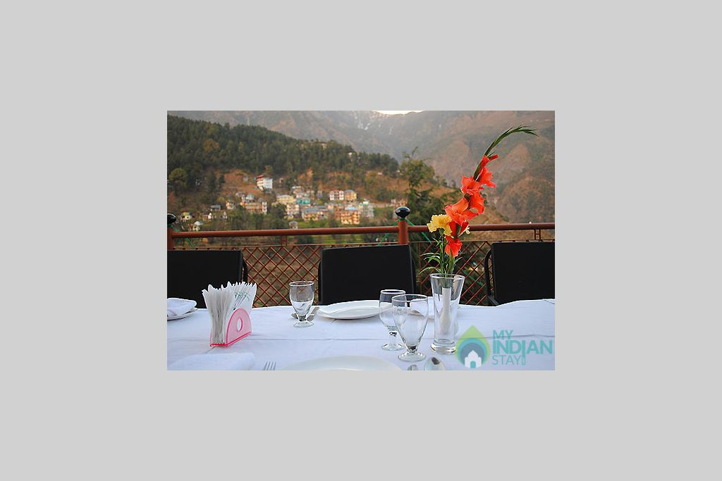 open air terrace in a Guest House in Dharamshala, Himachal Pradesh