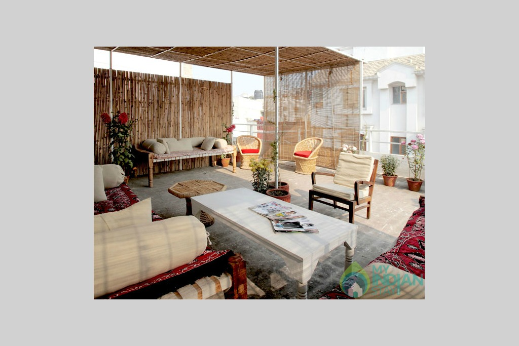 Rooftop Terrace in a Guest House in New Delhi, Delhi