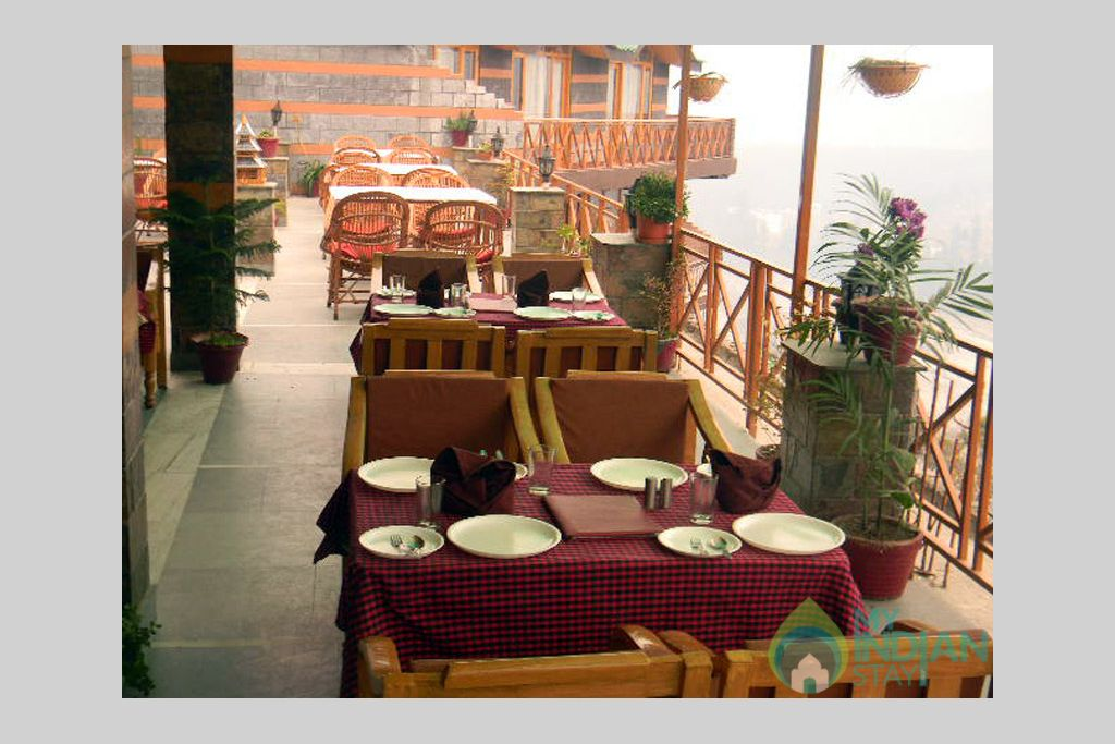 Dinning hall in a Guest House in Manali, Himachal Pradesh