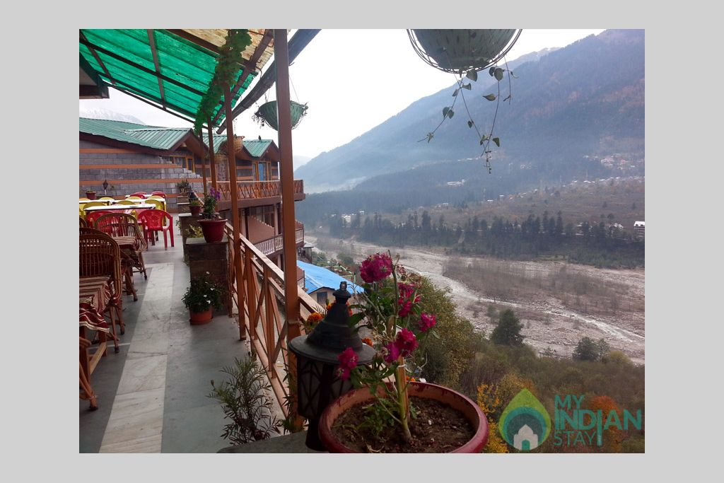 Terrace View in a Guest House in Manali, Himachal Pradesh