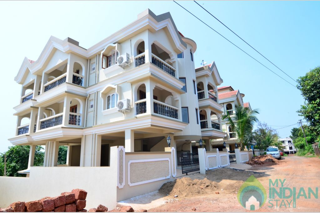 Building Facade in a Self Catered Apartment in Pilerne, Goa