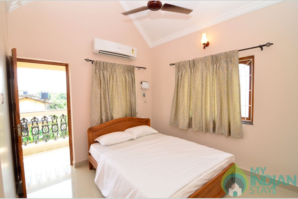 Bedroom 1 in a Self Catered Apartment in Pilerne, Goa