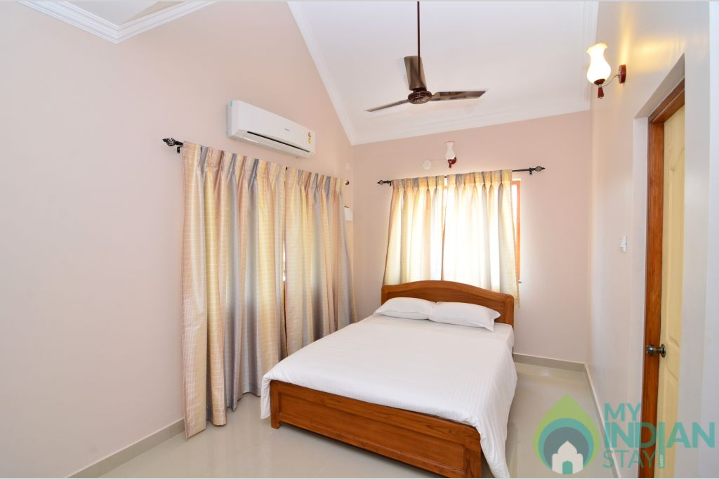 Bedroom 2 in a Self Catered Apartment in Pilerne, Goa