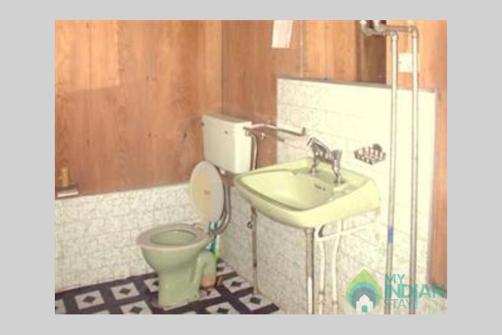 Bathroom in a Guest House in Srinagar, Jammu and Kashmir