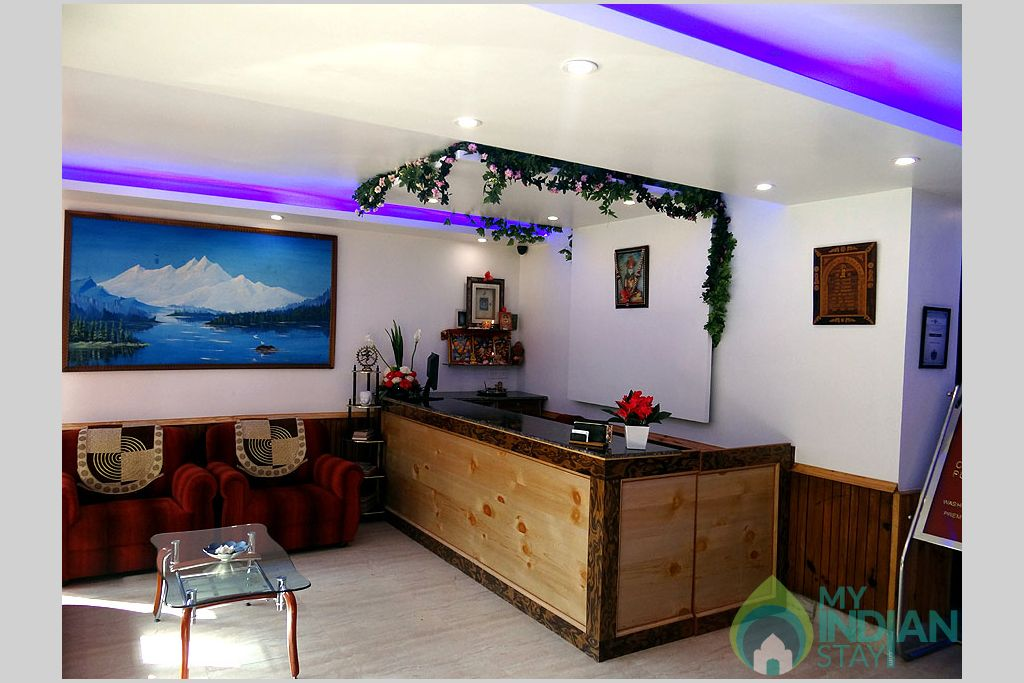 Front Desk in a Guest House in Manali, Himachal Pradesh