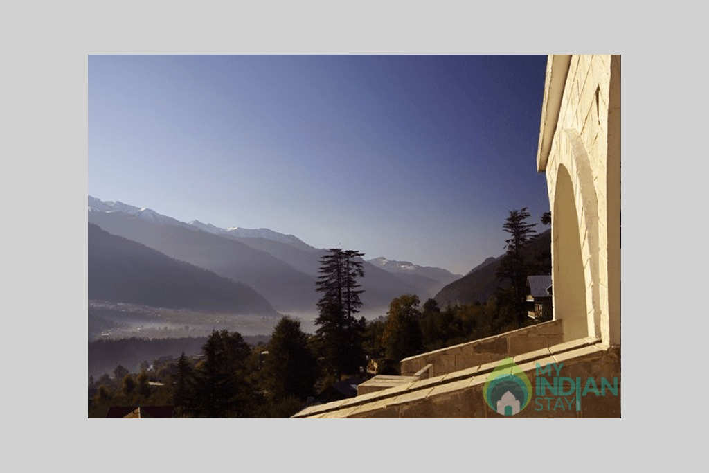 Panoramic-view-from-the-all-room-big in a Guest House in Manali, Himachal Pradesh