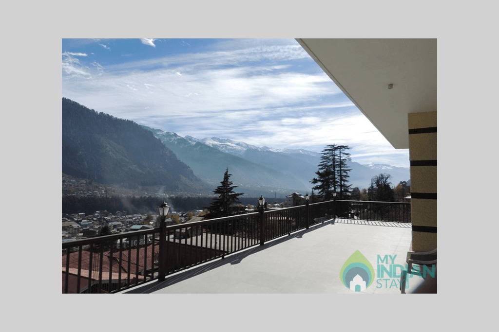 View-from-the-cottage-big in a Cottage/Huts in Manali, Himachal Pradesh