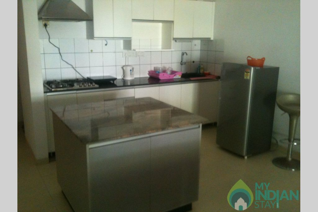 Kitchen 1 in a Serviced Apartment in Arpora, Goa