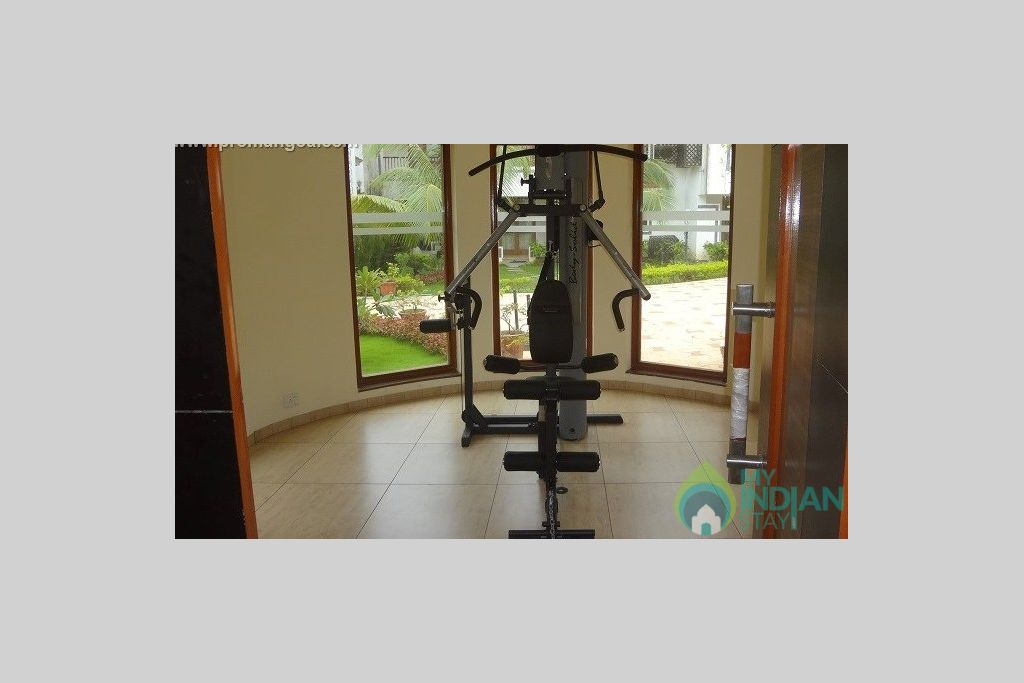 gym 1 in a Serviced Apartment in Arpora, Goa