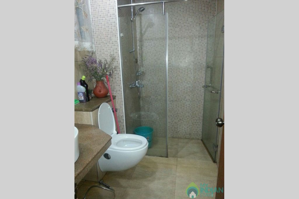 Shower Area in a Serviced Apartment in Arpora, Goa