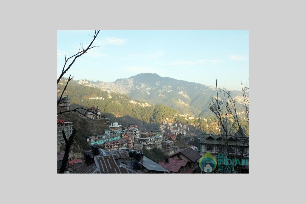 View from guest house in a Guest House in Shimla, Himachal Pradesh
