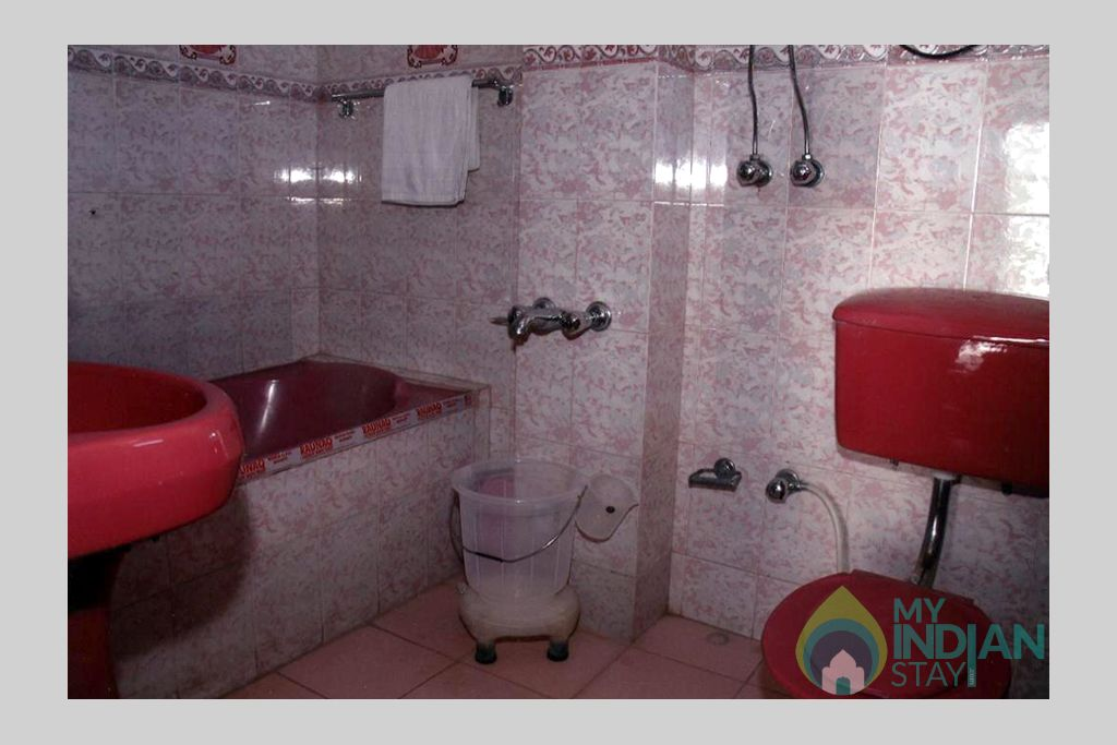Wash room in a Guest House in Shimla, Himachal Pradesh