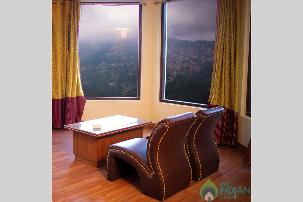 Living area in a Guest House in Shimla, Himachal Pradesh