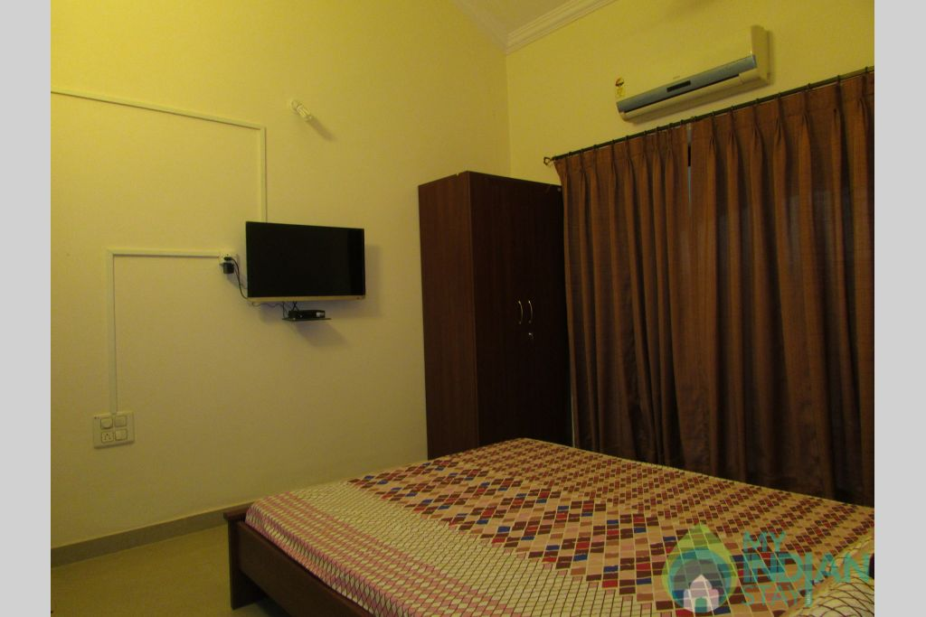 Master Bedroom in a Serviced Apartment in Siolim, Goa