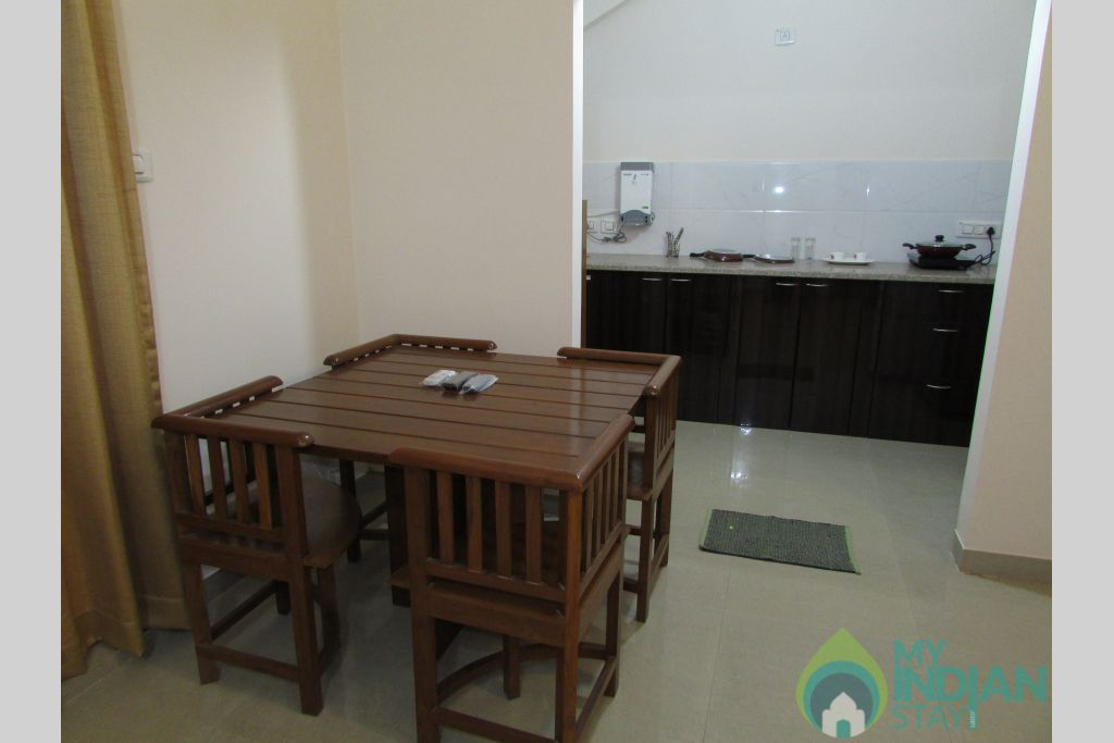 Living Room in a Serviced Apartment in Siolim, Goa