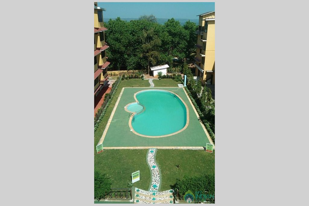 Swimming Pool in a Serviced Apartment in Vagator, Goa