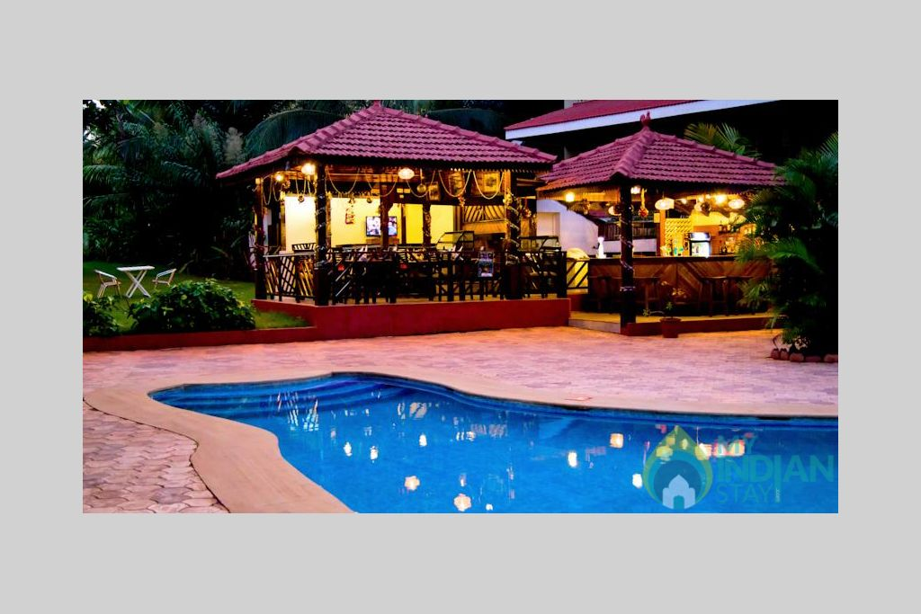 back pool in a Villa in Candolim, Goa
