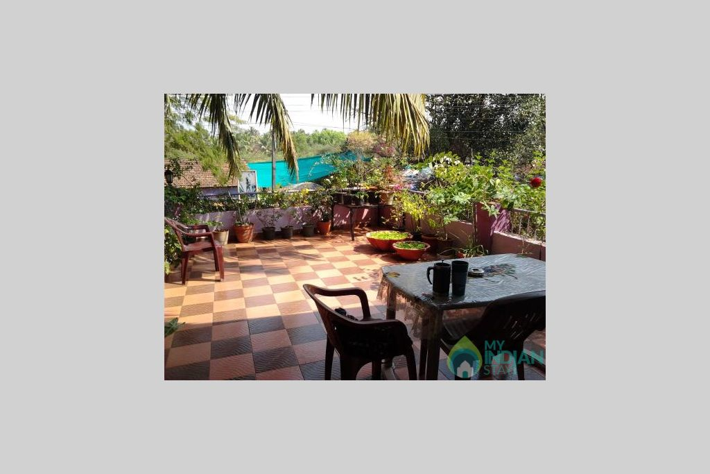 roof-garden in a Guest House in Anjuna, Goa