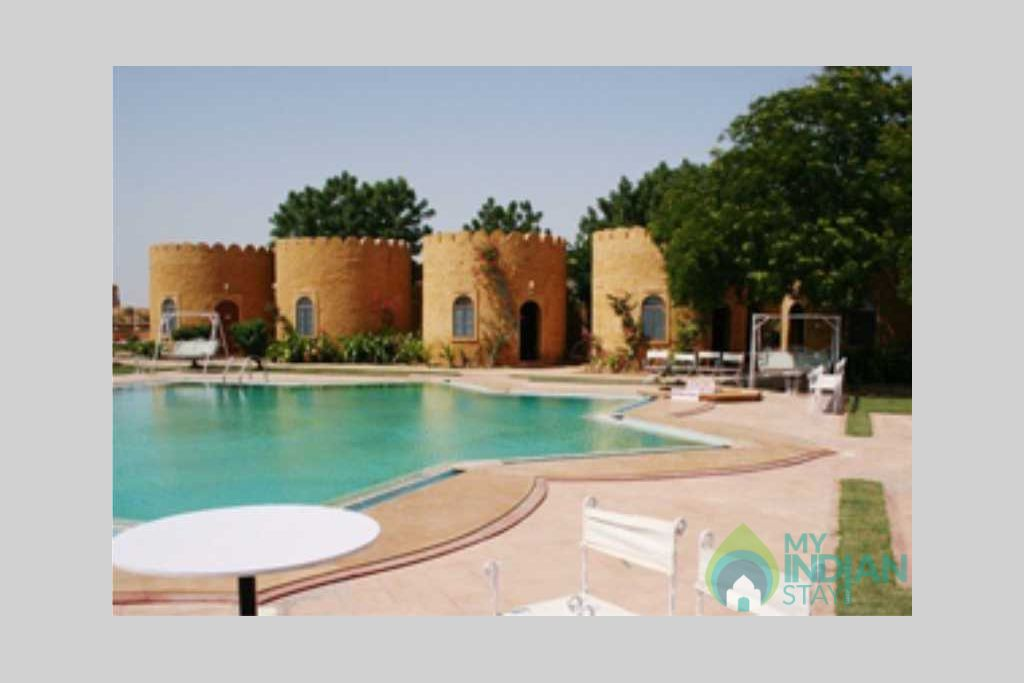 swiming pool in a Resort in Jaisalmer, Rajasthan