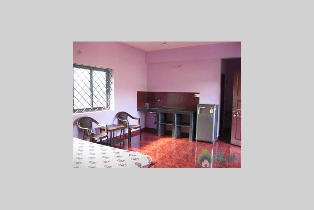 bedroom attached with kitchen in a Guest House in Anjuna, Goa