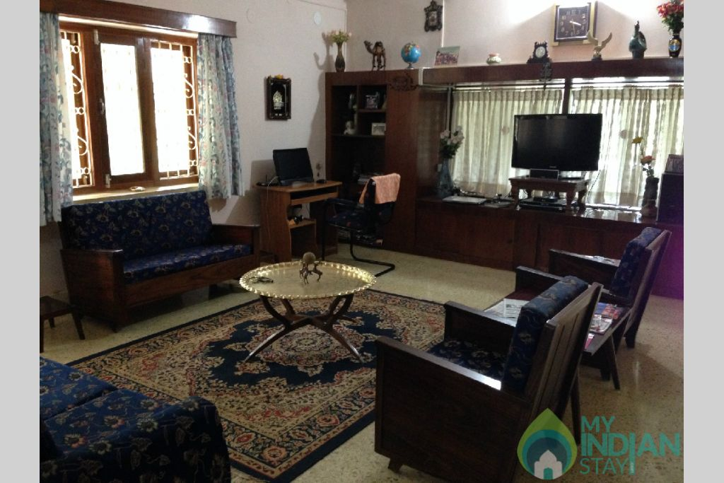living room in a Independent Bungalow in Madikeri, Karnataka