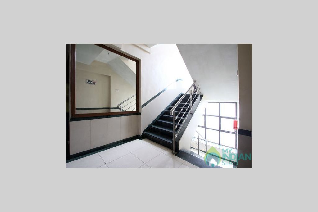 stair case in a Guest House in Navi Mumbai, Maharashtra