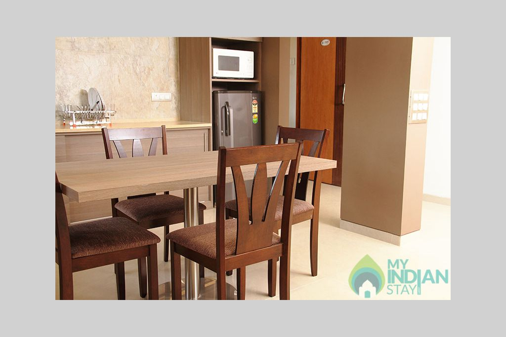 Dining hall in a Serviced Apartment in Mumbai, Maharashtra