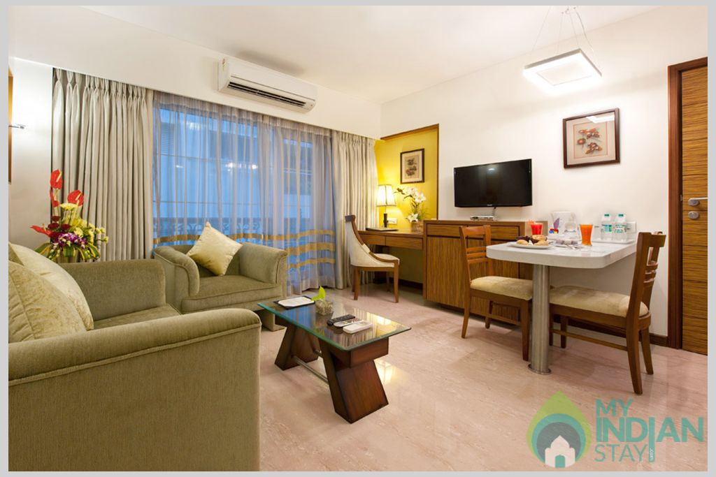 Hall in a Serviced Apartment in Mumbai, Maharashtra