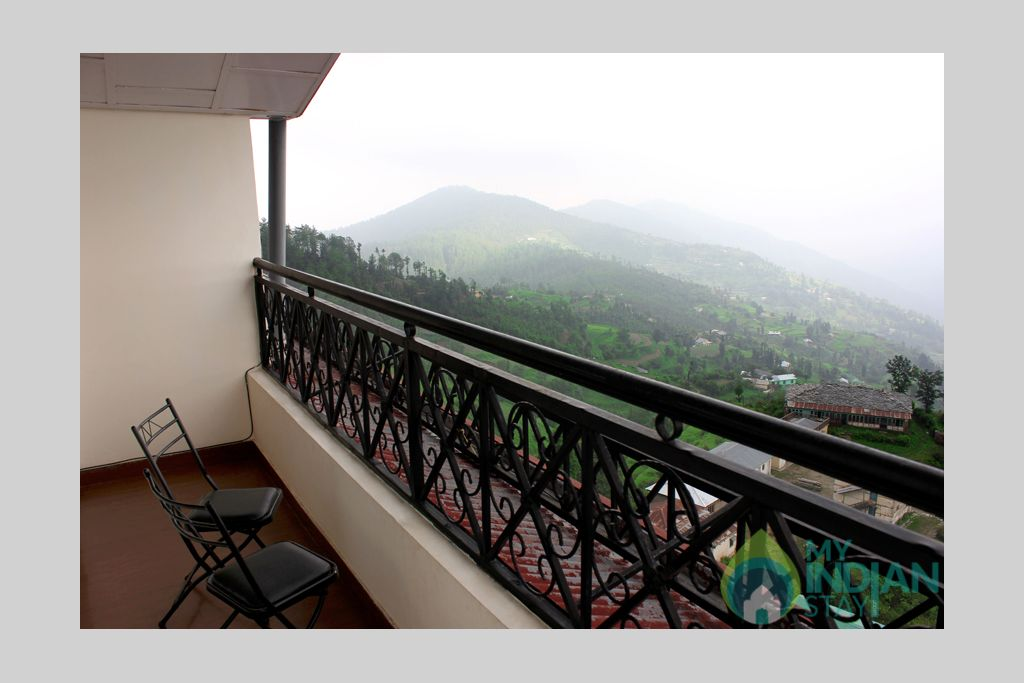 balcony with super deluxe rooms in a Guest House in Shimla, Himachal Pradesh