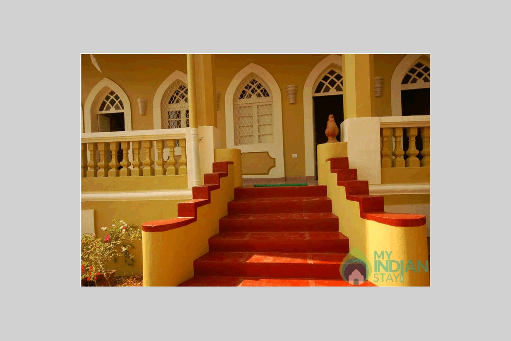 Steps in a Bed & Breakfast in Panjim, Goa
