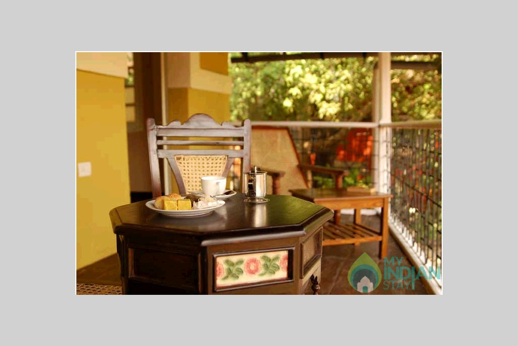 Breakfast in a Bed & Breakfast in Panjim, Goa