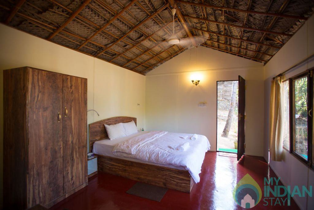 Bedroom View in a Cottage/Huts in Canacona, Goa