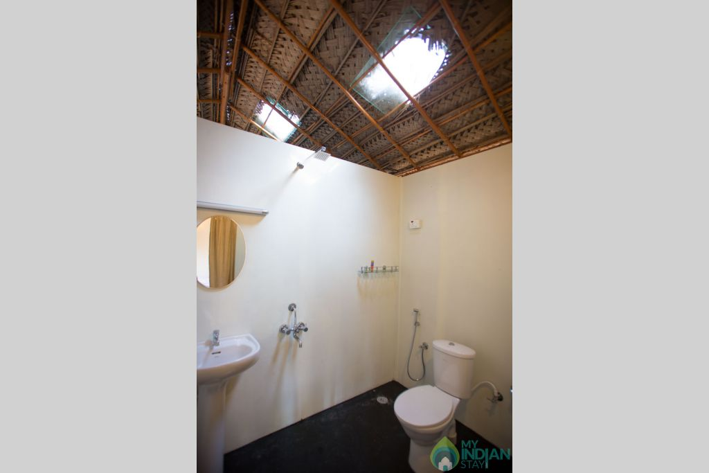 Bathroom View in a Cottage/Huts in Canacona, Goa