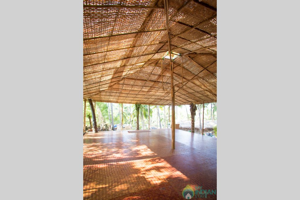 Parinama Yoga Studio, Usage of Studio is charged separately  in a Cottage/Huts in Canacona, Goa