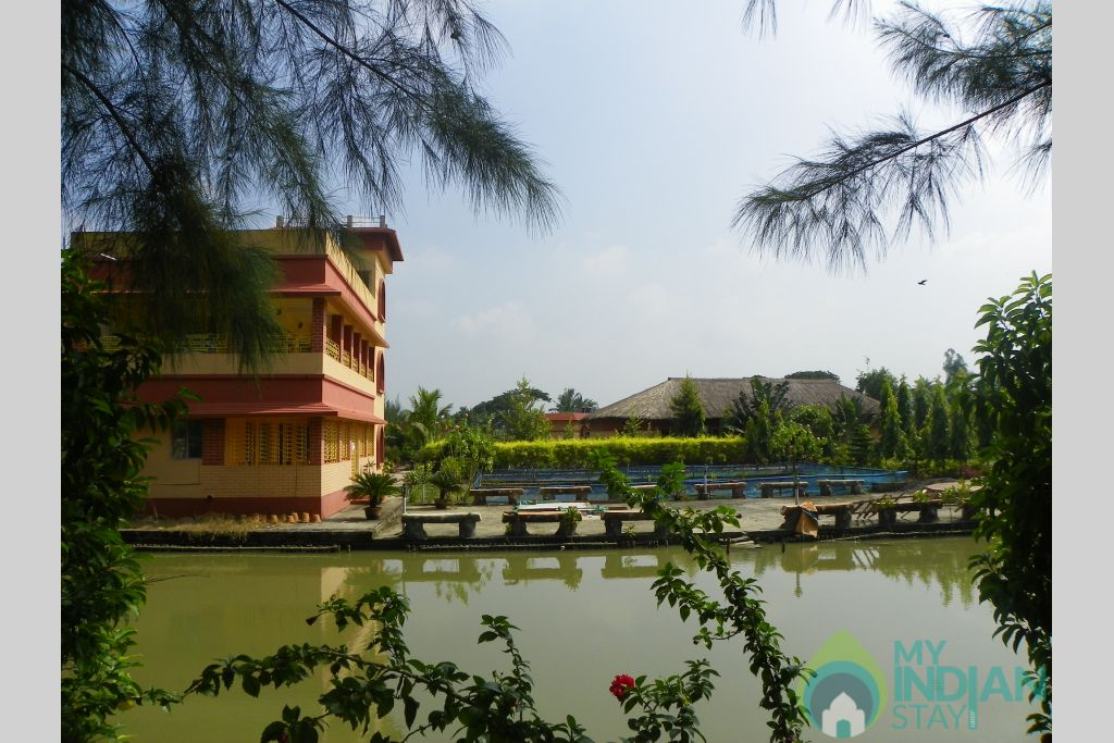 dlx room outside in a Resort in Sundarban, West Bengal