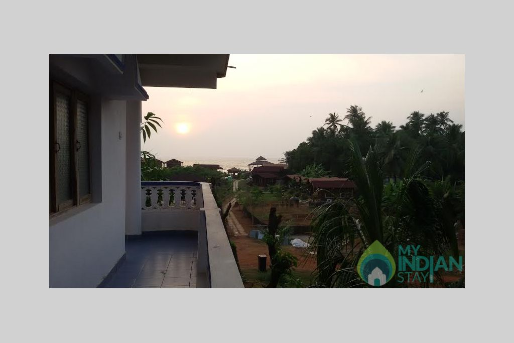 balcony view in a Guest House in Arambol, Goa