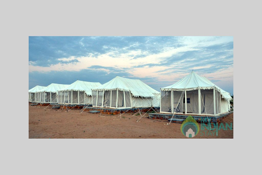 tents in a Tents in Jaisalmer, Rajasthan