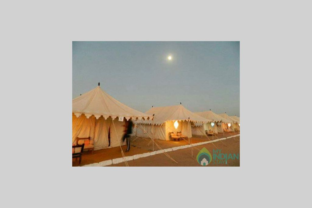swiss tents in a Tents in Jaisalmer, Rajasthan