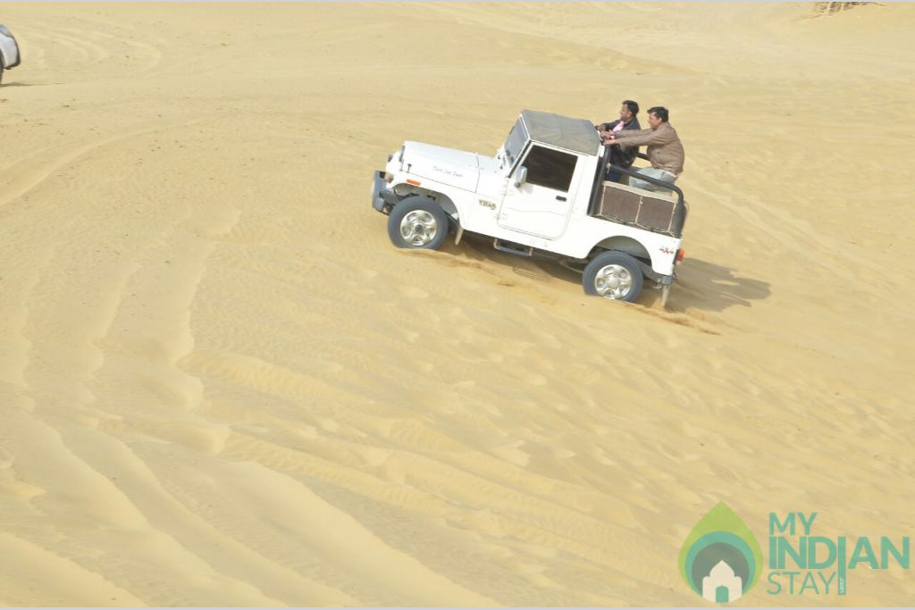 jeep safari in a Cottage/Huts in Jaisalmer, Rajasthan