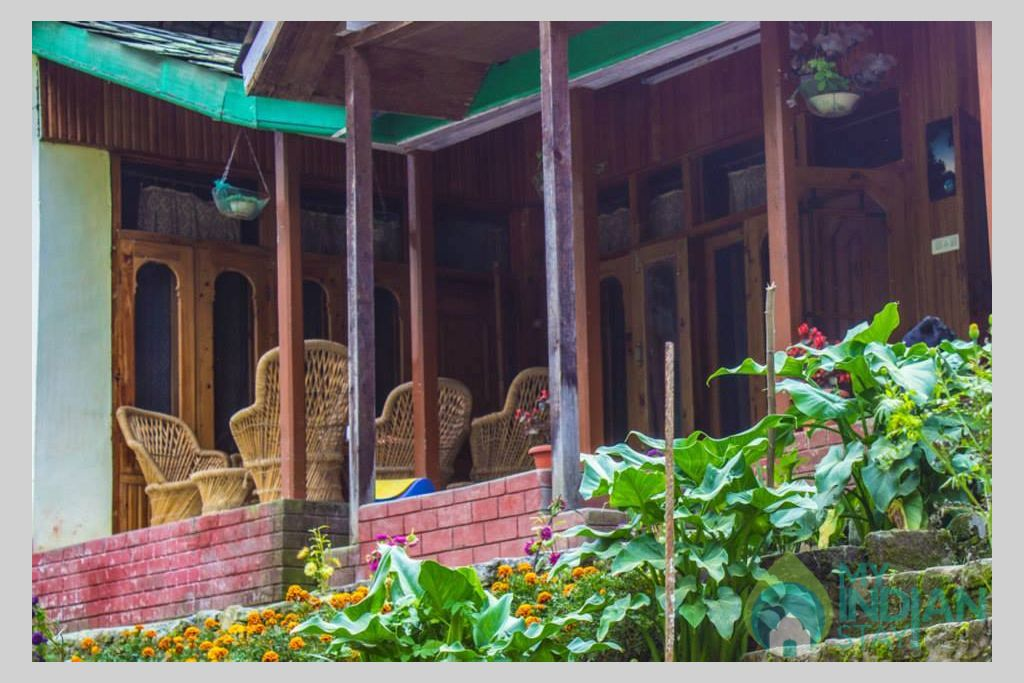 Exterior View in a Cottage/Huts in Kasol, Himachal Pradesh
