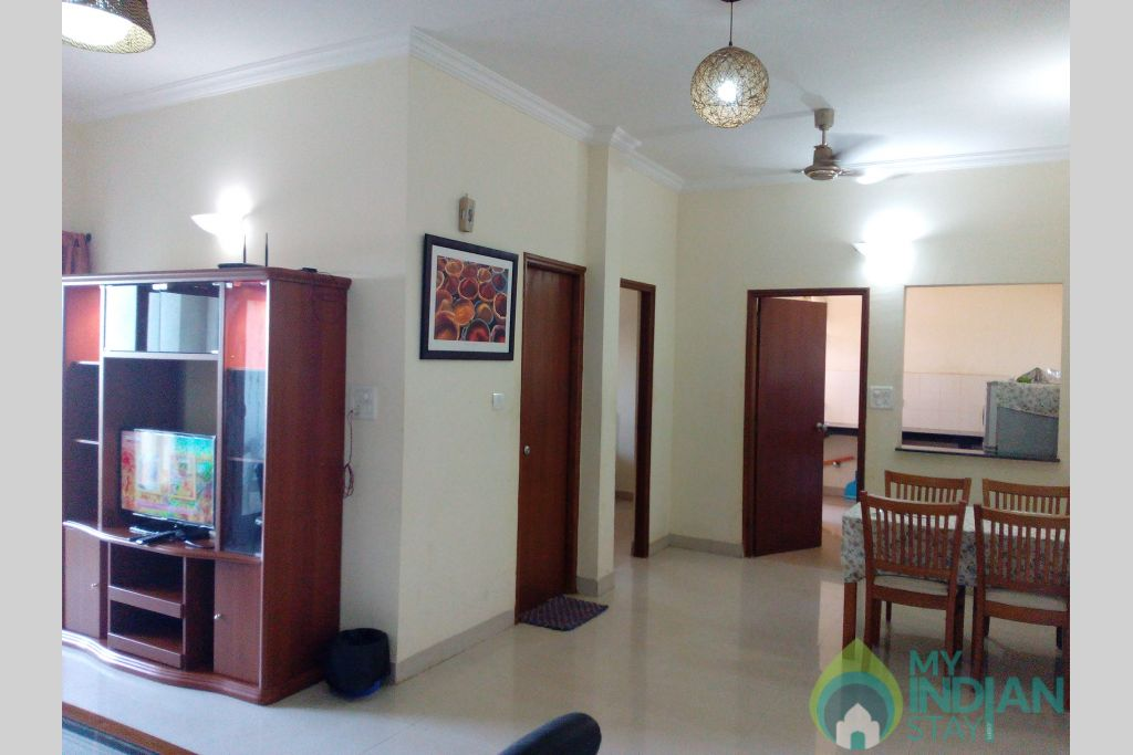 Hall & Dining Area in a Serviced Apartment in Dona Paula, Goa