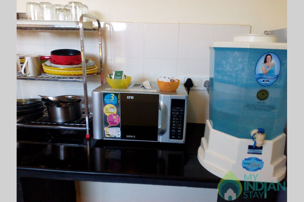 Kitchen Appliances-1 in a Serviced Apartment in Dona Paula, Goa