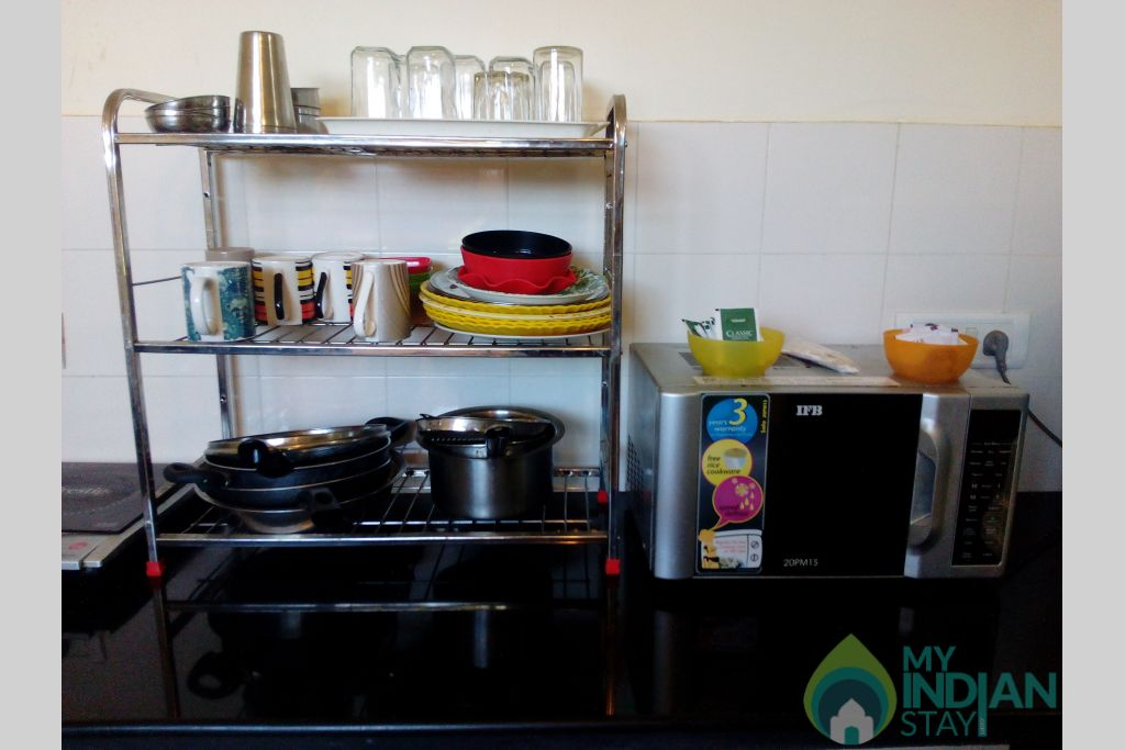 Kitchen Appliances-2 in a Serviced Apartment in Dona Paula, Goa