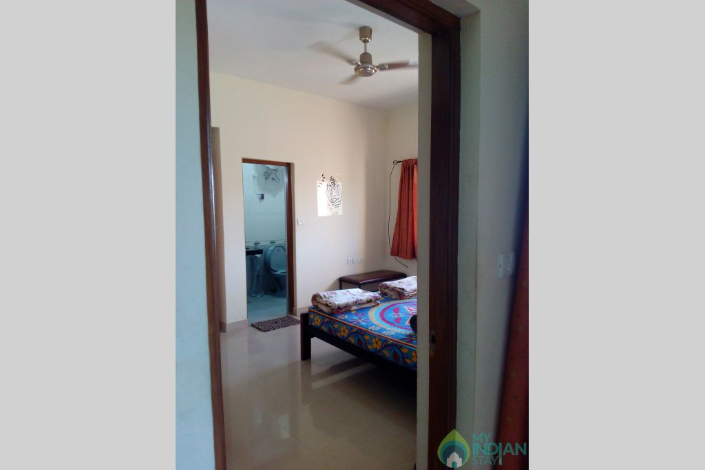 Partial Viw of Master Bedroom from Sittling Area-2 in a Serviced Apartment in Dona Paula, Goa